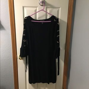 Black INC knit dress with amazing sleeves!